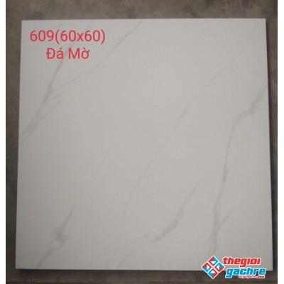Gạch đá mờ 60x60 trắng vân mây giá rẻ