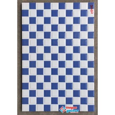 Gạch trang trí 30x45 ca rô trắng xanh