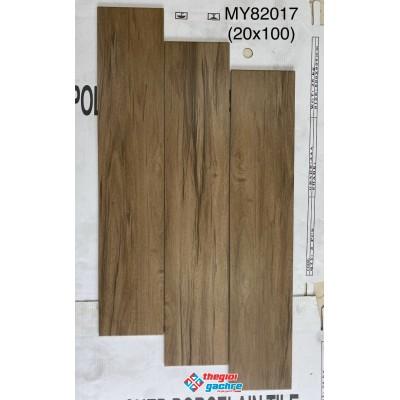 Gạch giả gỗ 20x100 vân xám mới nhất