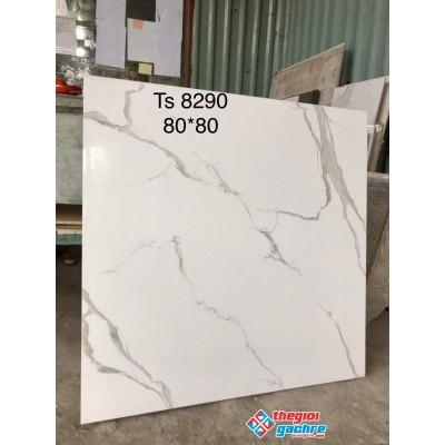 Gạch lát nền bóng kiếng 80x80 kim cương