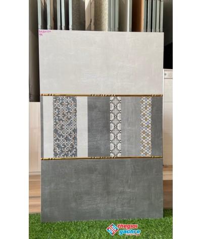 Gạch ốp tường 30x60 xám mờ vân xi măng