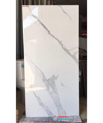 Gạch bóng kiếng 60x120 trắng mây ý mỹ